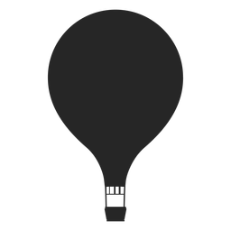 Simple hot air balloon silhouette