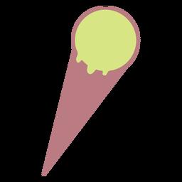 Ícone de estilo de linha de sorvete simples