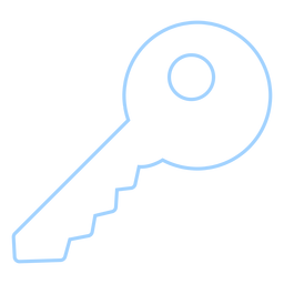 Simple key line style icon