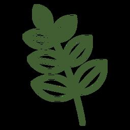 Hojas simples en el icono de rama