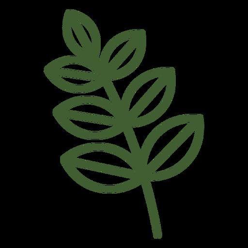 Icono de hojas simples en rama