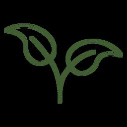 Icono de hojas simples