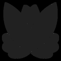 Icono de loto simple