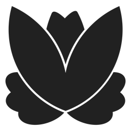 Simple lotus icon