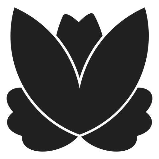 Simple lotus icon Transparent PNG