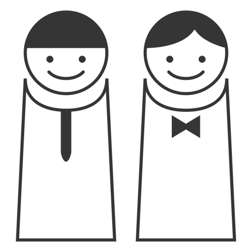 Simple male female icon Transparent PNG