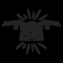 Einfaches Motorrad-Symbol