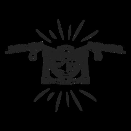 Ícone de moto simples Transparent PNG