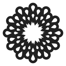 Simple multi petal flower vector