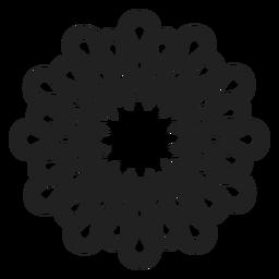Vetor de flor simples multi pétala
