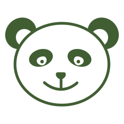 Einfaches Panda-Symbol