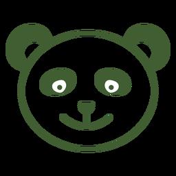 Ícone de panda simples