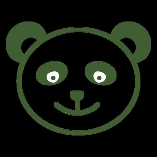 Icono de panda simple Transparent PNG
