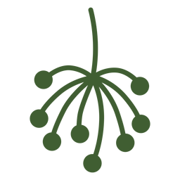Simple plant tip icon