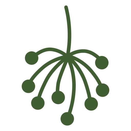 Simple plant tip icon Transparent PNG