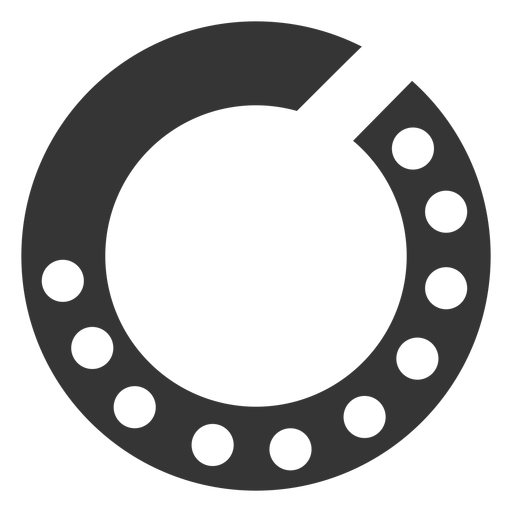 Simple rotary dial icon Transparent PNG