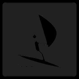 Ícone quadrado vela simples