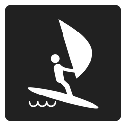 Simple sailing square icon
