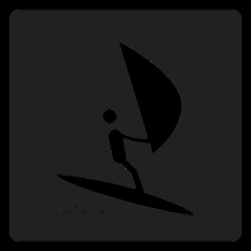 Ícone quadrado vela simples Transparent PNG