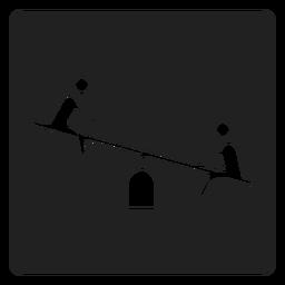 Simple icono de balancín