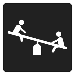 Simple seesaw square icon