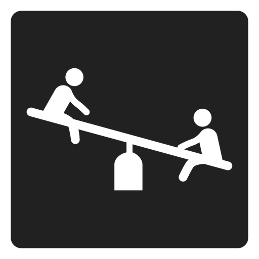 Simple seesaw square icon Transparent PNG