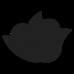 Ícone de flor simples spa