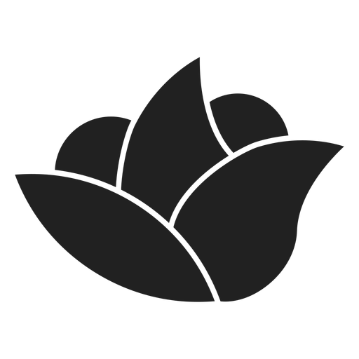 Simple spa flower icon Transparent PNG