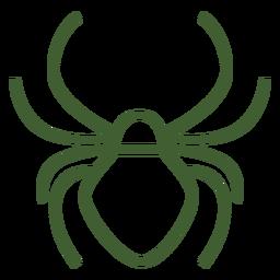 Einfaches Spinnensymbol