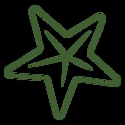 Icono de estrella simple