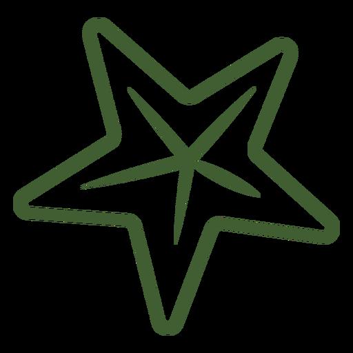 Ícone de estrela simples Transparent PNG