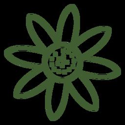 Einfache Sonnenblume-Symbol