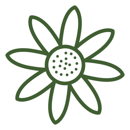 Simple sunflower icon Transparent PNG