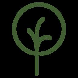 Ícone simples árvore