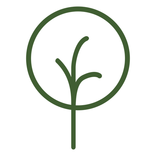 Simple tree icon Transparent PNG