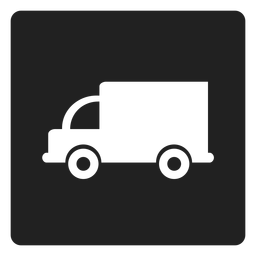 Ícone quadrado caminhão simples