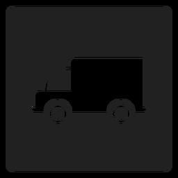 Icono cuadrado de camión simple