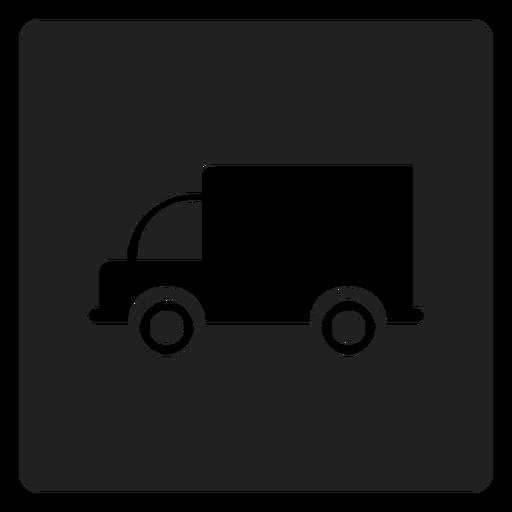 Icono cuadrado de carro simple