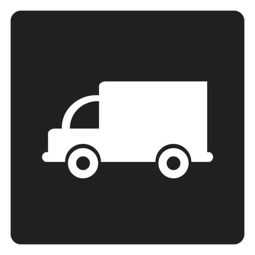 Simple truck square icon Transparent PNG