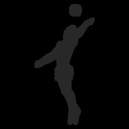 Einfache Volleyball-Silhouette