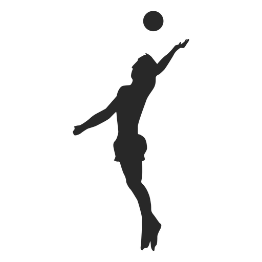 Simple volleyball serve silhouette Transparent PNG