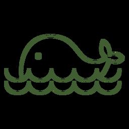 Icono de ballena simple