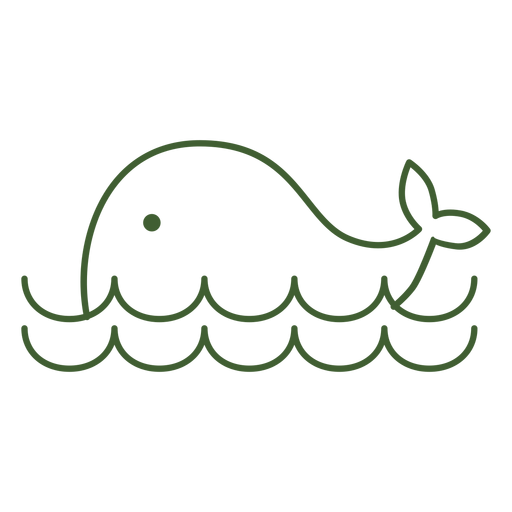Simple whale icon Transparent PNG