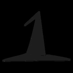 Silueta de sombrero de bruja simple