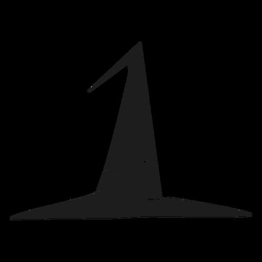 Silueta de sombrero de bruja simple Transparent PNG