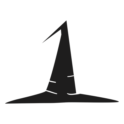 Simple witch hat silhouette Transparent PNG