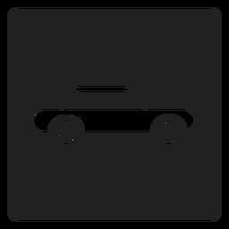 Ícono cuadrado de automóvil simple.