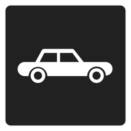 Simple automobile car square icon