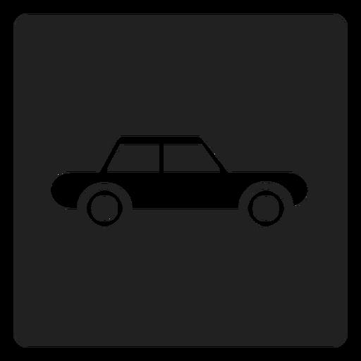 Ícone quadrado simples carro automóvel Transparent PNG