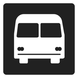 Simple bus square icon